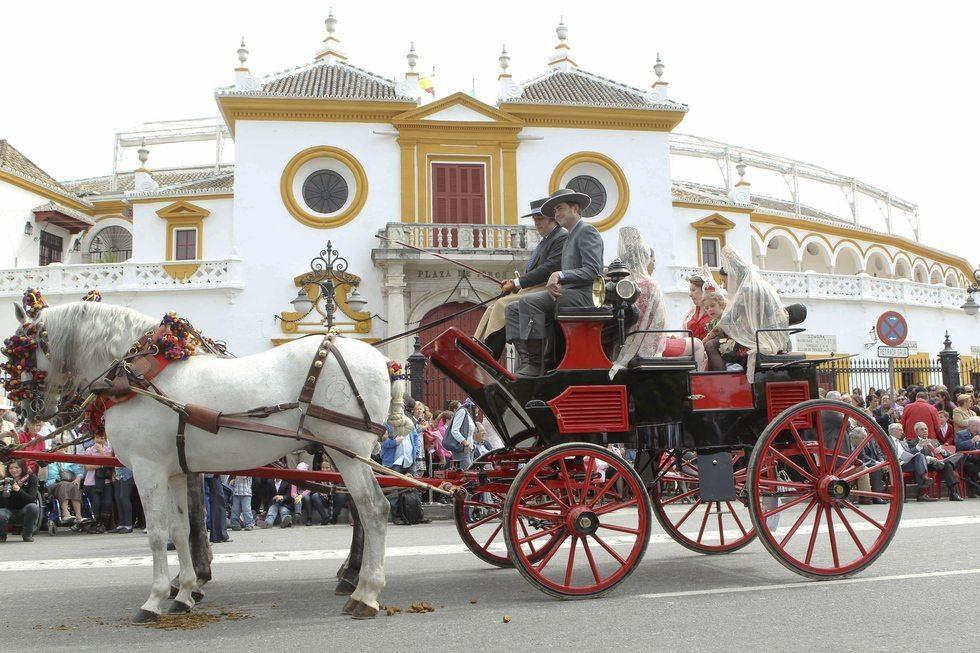 415 coches de caballos en la feria de sevilla Hoteles en Andalucia